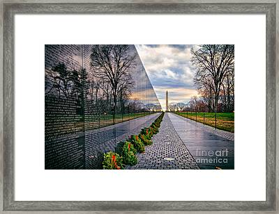 Vietnam War Memorial, Washington, Dc, Usa Framed Print