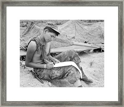Vietnam War. Private First Class Joseph Framed Print