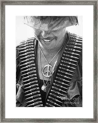 Vietnam War: Soldier, 1970 Framed Print