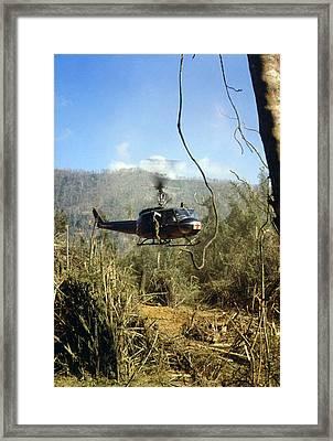 Vietnam War, South Vietnam, A Uh-1d Framed Print