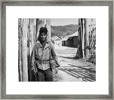 Vietnam War. South Vietnamese Soldier Framed Print by Everett