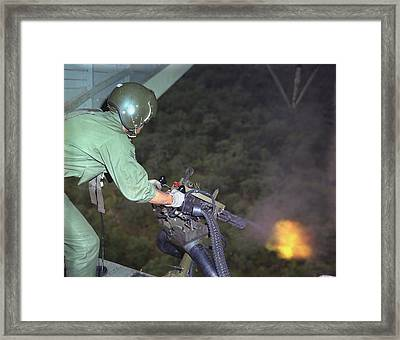 Vietnam War. Us Air Force Helicopter Framed Print by Everett