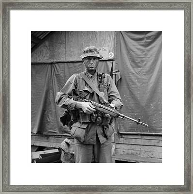 Vietnam War. Us Marine Sergeant Framed Print by Everett