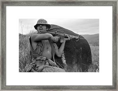 Vietnam War, Vietnam, Specialist. 4 Framed Print