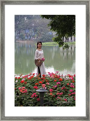 Vietnamese Beauty Hanoi  Framed Print