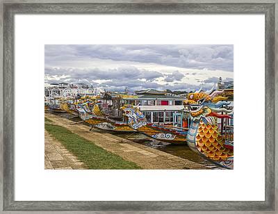 Vietnamese Dragon Boats Framed Print