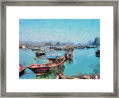 Vietnamese Fishermen Framed Print