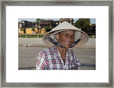 Vietnamese Street Vendor Framed Print