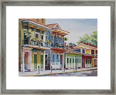 Vieux Carre Framed Print by Sue Zimmermann