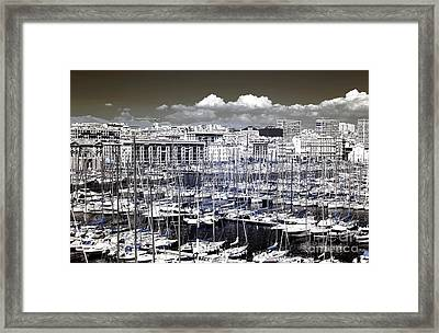 Vieux Port Clouds Framed Print by John Rizzuto
