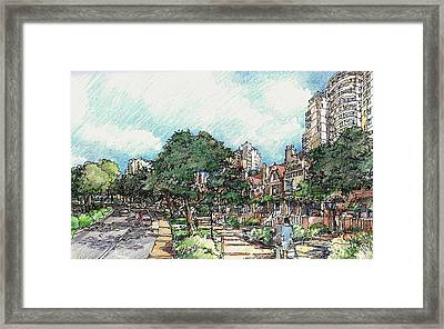 View 1 Framed Print by Andrew Drozdowicz