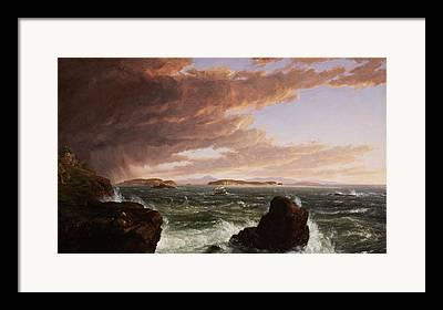 Maine Seacoast Framed Prints