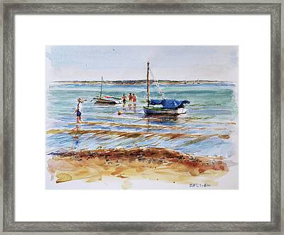 View Across Provincetown Harbor Framed Print by Peter Salwen