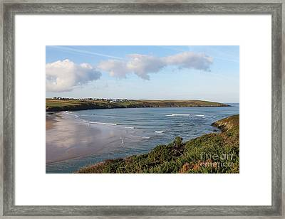 Framed Print featuring the photograph View Across The Gannel Estuary by Nicholas Burningham