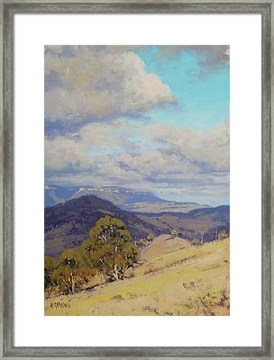 View Across The Kanimbla Valley Australia Framed Print by Graham Gercken