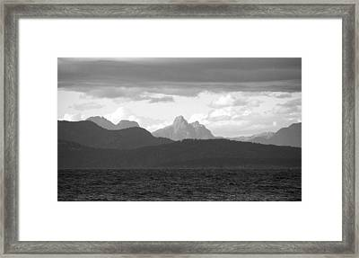 View Across The Strait 2 Photograph Framed Print by Kimberly Walker