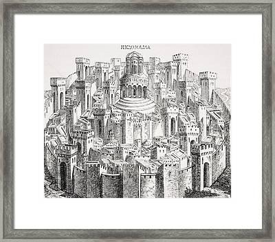 View And Plan Of Jerusalem. Facsimile Framed Print