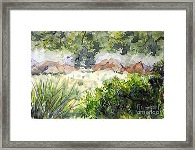 View At Red Rock Framed Print by Vicki  Housel