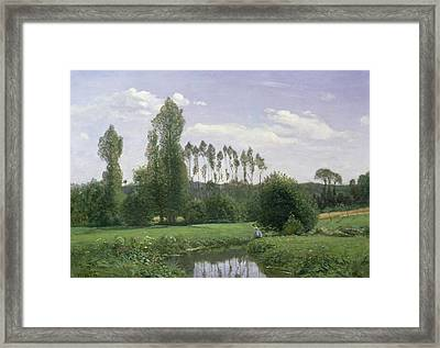 View At Rouelles Framed Print by Claude Monet