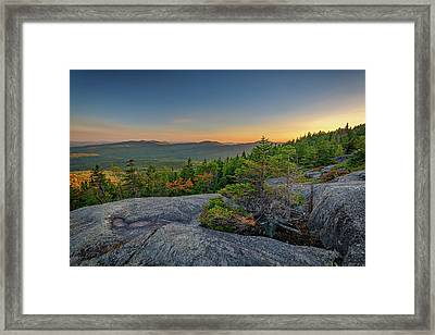 View At Sunset From Tumbledown Mountain Framed Print