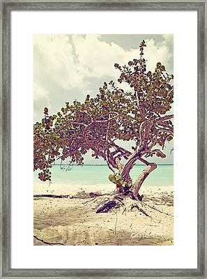 View At The Ocean With Boats In The Water Framed Print