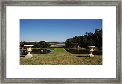 View Down To The Ashley River At Middleton Place Plantation Charleston Framed Print