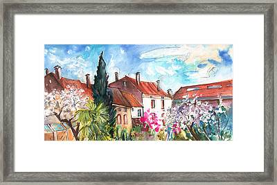 View From The Trefle Window In Albi Framed Print by Miki De Goodaboom