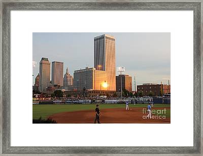 View From 3rd Base Framed Print
