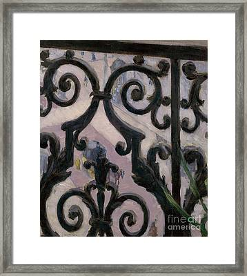 View From A Balcony, 1880 Framed Print