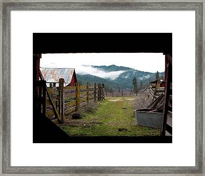 View From A Barn Framed Print