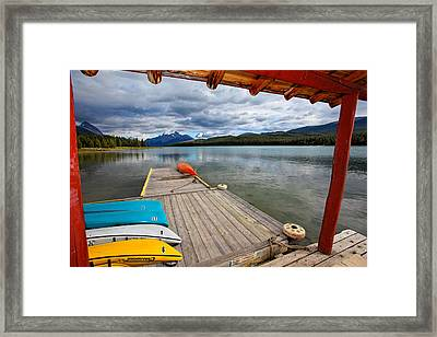 View From A Boathouse Framed Print by George Oze