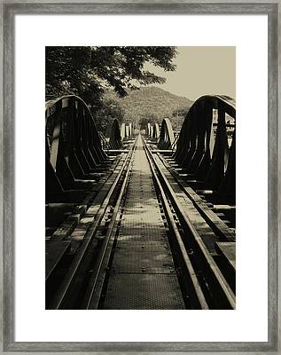 View From A Bridge - River Kwai Framed Print by Kelly Jones