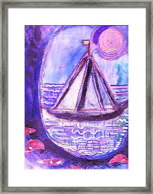 View From A Cavern In The Sea Framed Print by Anne-Elizabeth Whiteway