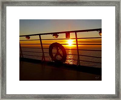 View From A Cruise Ship Framed Print by Mark Taylor