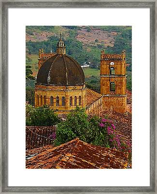 View From A Hill 2 Framed Print