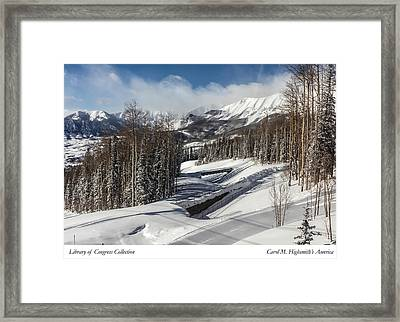 Framed Print featuring the photograph View From A Mountain Above Telluride In Colorado by Carol M Highsmith