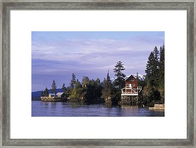 View From A Quiet Place Lodge Framed Print by Rich Reid