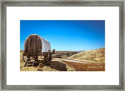 View From A Sheep Herder Wagon Framed Print