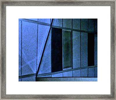View From A Waiting Room Framed Print by Mitch Spence