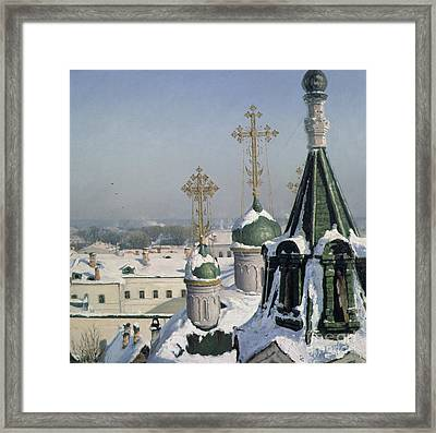 View From A Window Of The Moscow School Of Painting Framed Print