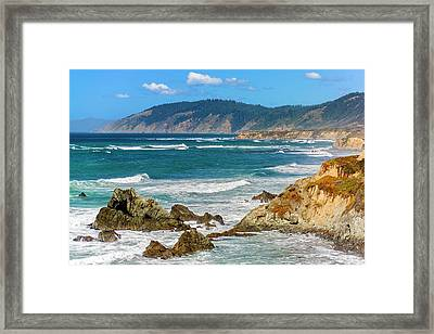 View From Abalone Point Framed Print