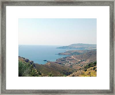 View From Above Framed Print by Chara Giakoumaki