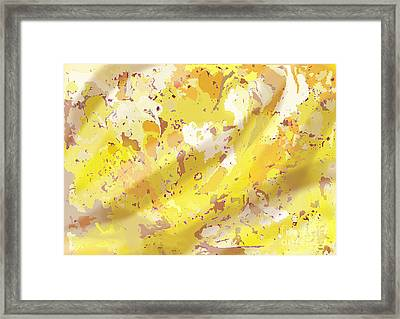 View From Above In Yellow Framed Print