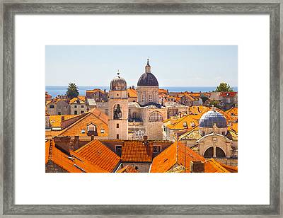 View From Above Of Dubrovnik Framed Print by Sandra Rugina