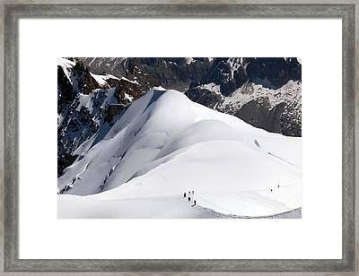 View From Aguille Du Midi Framed Print