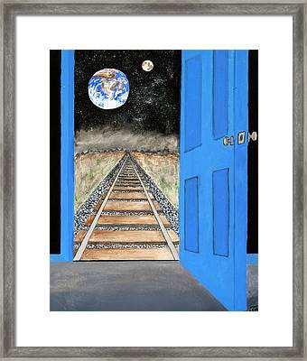 View From Another Planet Framed Print by Michael Ledray