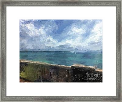 View From Bermuda Naval Fort Framed Print