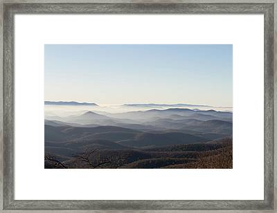 View From Blood Mountain Framed Print