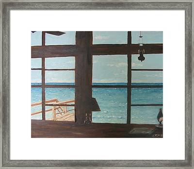 View From Blue House II Framed Print by John Terry