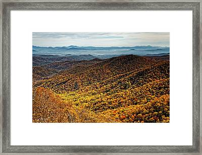 View From Blue Springs Gap Framed Print by Phill Doherty